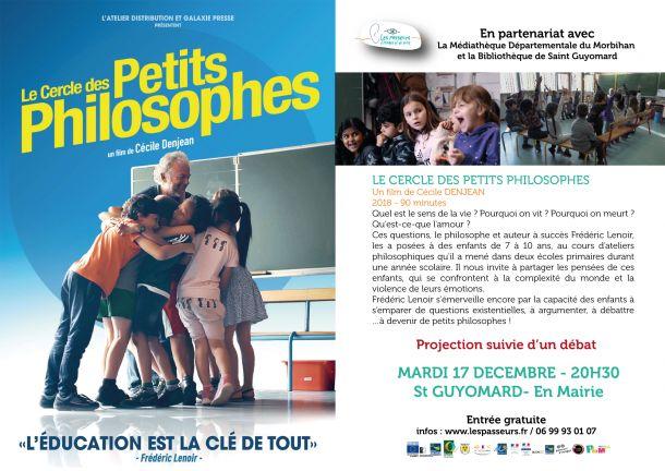 """projection du film documentaire """"Le cercle des petits philosophes"""""""